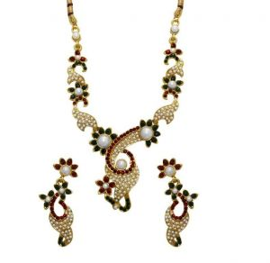 La Trendz Gold Plated Pearl Necklace Set For Women(ltcpr1310)