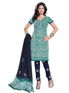 Padmini Unstitched Printed Cotton Dress Material (product Code - Dtbjbatiklight7002)