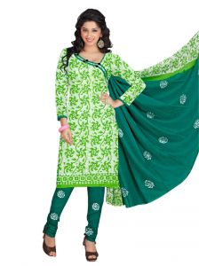 Padmini Unstitched Printed Cotton Dress Material (product Code - Dtbjbatiklight7008)