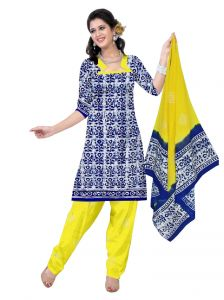 Padmini Unstitched Printed Cotton Dress Material (product Code - Dtbjbatiklight7009)