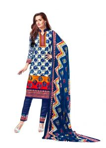 Padmini Unstitched Printed Cotton Dress Materials (product Code - Dtsjnaira1010)