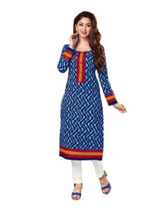 Padmini Unstitched Printed Cotton Kurti Fabrics (product Code -dtkakavya1108)