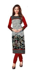 Padmini Unstitched Printed Cotton Kurti Fabrics (product Code -dtkakavya1152)