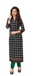 Padmini Unstitched Printed Cotton Kurti Fabrics (product Code -dtkakavya1154)