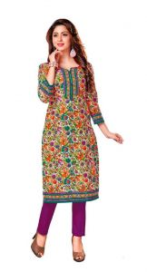 Padmini Unstitched Printed Cotton Kurti Fabrics (product Code -dtkakavya1155)
