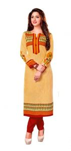 Padmini Unstitched Printed Cotton Kurti Fabrics (product Code -dtkakavya1157)