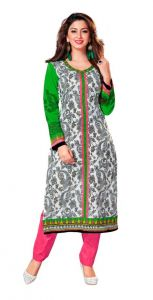 Padmini Unstitched Printed Cotton Kurti Fabrics (product Code -dtkakavya1161)