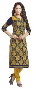Kurtis - PADMiNi Unstitched Printed Cotton Kurti Fabrics (Product Code - DTAFSAHELI1216)