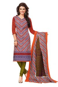 Dress Materials (Singles) - PADMiNi Unstitched Printed Cotton Dress Materials Fabrics (Product Code - DTVCPRAGATI2207)