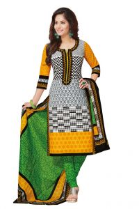 Padmini Unstitched Printed Cotton Dress Materials Fabrics (product Code - Dtafspl2610)