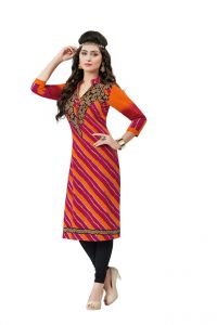 Padmini Unstitched Printed Cotton Kurti Fabrics (product Code - Dtafsaheli1318)