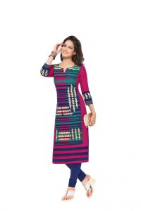 Padmini Unstitched Printed Cotton Kurti Fabrics (product Code - Dtafsaheli1411)