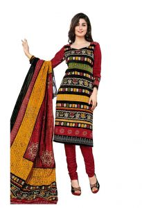 Padmini Unstitched Printed Cotton Dress Materials Fabrics (product Code - Dtkapreyanshi5155)