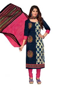 7c72ee27fa0e PADMiNi Unstitched Printed Cotton Dress Material (Code - DTKAPREYANSHI5181)