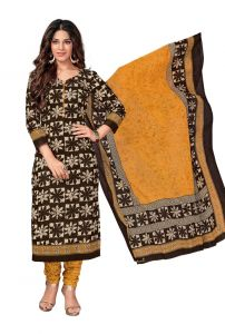 Dress Materials - PADMiNi Unstitched Printed Cotton Dress Material (Code - DTKASMIT5512)
