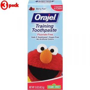 Orajel Training Toothpaste 42.5g - Sesame Street (pack Of 3)