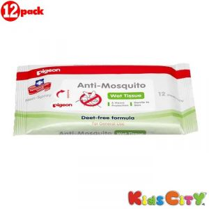 Insect repellents - Pigeon Anti Mosquito Wipes - 12Pc (Pack of 12)
