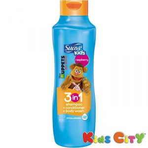 Suave Kids 3 In 1 Shampoo, Conditioner & Bodywash 665ml (22.5oz) - Rasberry