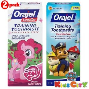 Orajel Training Toothpaste Combo (pack Of 2) - My Little Pony + Paw Patrol