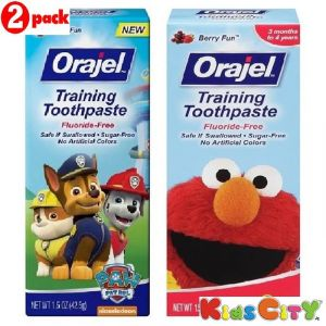 Orajel Training Toothpaste Combo (pack Of 2) - Paw Patrol + Sesame Street