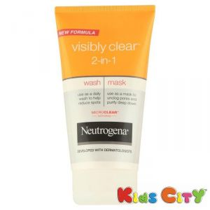 Neutrogena Personal Care & Beauty ,Health & Fitness  - Neutrogena Visibly Clear 2-In-1 Wash Mask - 150ml