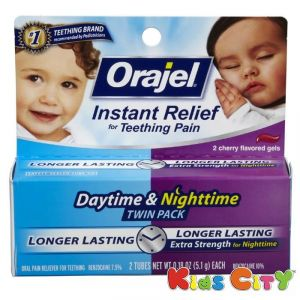 Orajel Instant Relef Twin Pack Teething Gel - 10.2g (daytime & Nighttime)
