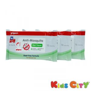 Baby Care - Pigeon Anti Mosquito Wipes - 12Pc (Pack of 3)