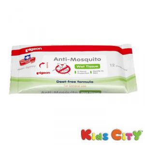 Pigeon Anti Mosquito Wipes - 12pc