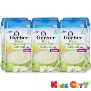 Baby Care (Misc) - Gerber Rice & Banana Apple Cereal - 227G (8oz) (Pack of 6)