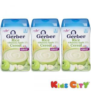 Baby Care (Misc) - Gerber Rice & Banana Apple Cereal - 227G (8oz) (Pack of 3)
