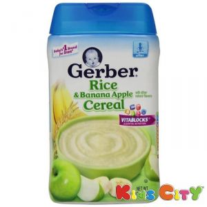 Gerber Rice & Banana Apple Cereal - 227g (8oz)
