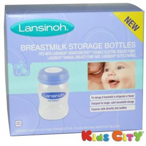 Lansinoh Breastmilk Storage Bottles 4pk - 160ml (5oz)