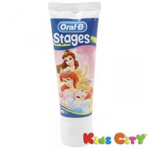 Oral-b Stages Toothpaste 75ml - Bubble Gum (disney Princess)