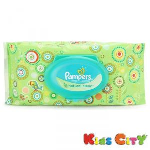 Pampers Baby Wipes 64pc - Natural Clean