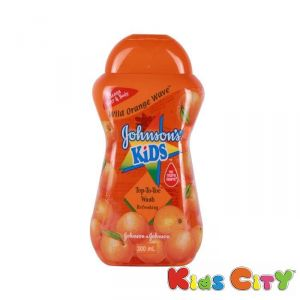 Johnsons Kids Top To Toe Wash 300ml - Wild Orange Wave