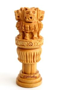 Crafts Gallery Wooden Ashoka Pillar - 3 Inch