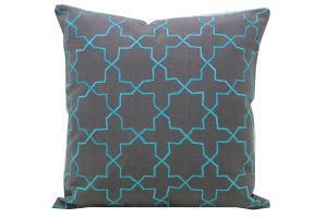 Blueberry Home Cotton Fabric Grey Color Cushion Cover (40x40 Cms)