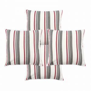 Blueberry Home Cotton Fabric White Color Cushion Covers Set Of 4 (40x40 Cms)