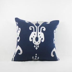 Blueberry Home Cotton Fabric Dark Blue Color Cushion Cover (40x40 Cms)