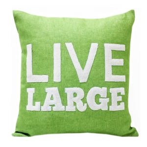 Blueberry Home Linen Fabric Light Green Color Cushion Cover (40x40 Cms)