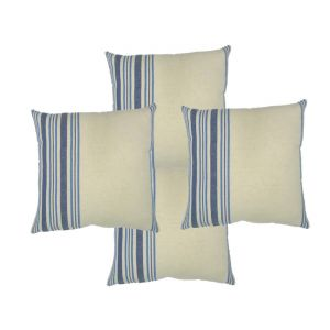 Blueberry Home Cotton Fabric Blue Color Cushion Covers Set Of 4 (40x40 Cms)