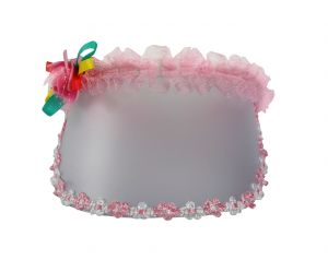 Tara Flower Cap Hair Band Light Pink Color