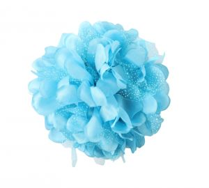 Tara Blue Flower Jaw Type Hair Clip