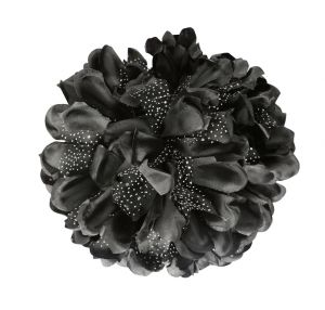 Tara Black Flower Jaw Type Hair Clip