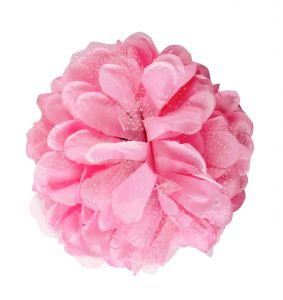 Tara Pink Flower Jaw Type Hair Clip