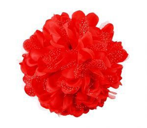 Tara Red Flower Jaw Type Hair Clip