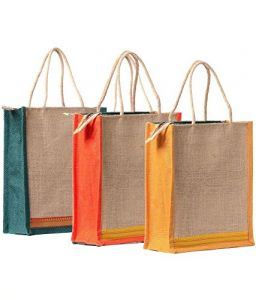 Shopping Bags - SPHINX MULTI-COLORED JUTE BAGS - SET OF 3
