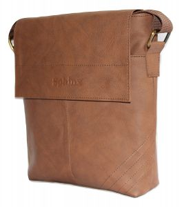 SPHINX Artificial Leather Cross-body Small Sling Bag For Men/boys - Brown