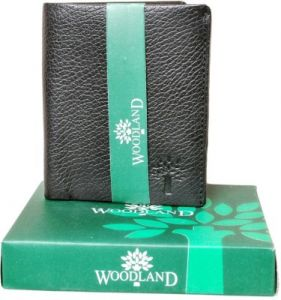 Woodland Belts ,Socks ,Wallets  - Woodland Designer Leather Wallet for men - Vertico style (Black)