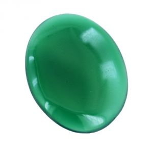 Green onyx - NirvanagemsCertified 39.5 Cts Oval Cabochon Green Onyx Loose Gemstone - BR-20188_RF